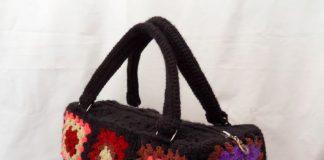 Вязаная сумка Бабушкин квадрат