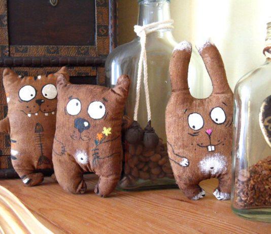 Кофейные игрушки животные