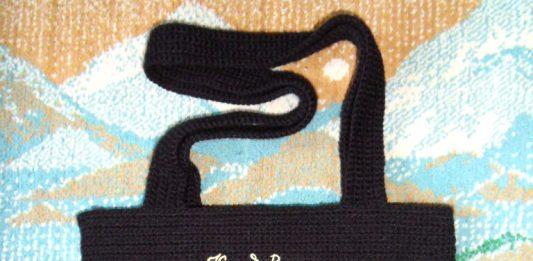 Вязаная крючком сумка Кот да Винчи