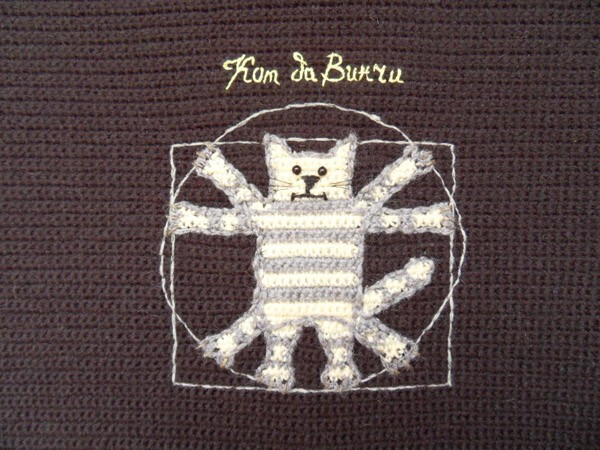Кот да Винчи вышивка