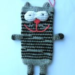 Полосатый серо-чёрный коточехол
