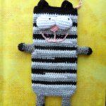 Полосатый чёрно-серый коточехол