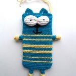 Полосатый сине-жёлтый коточехол