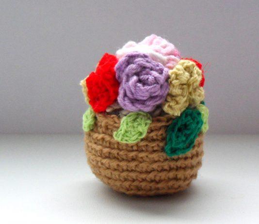 Вязанные крючком цветы, вязание цветов крючком, вязаная ёлочная игрушка.