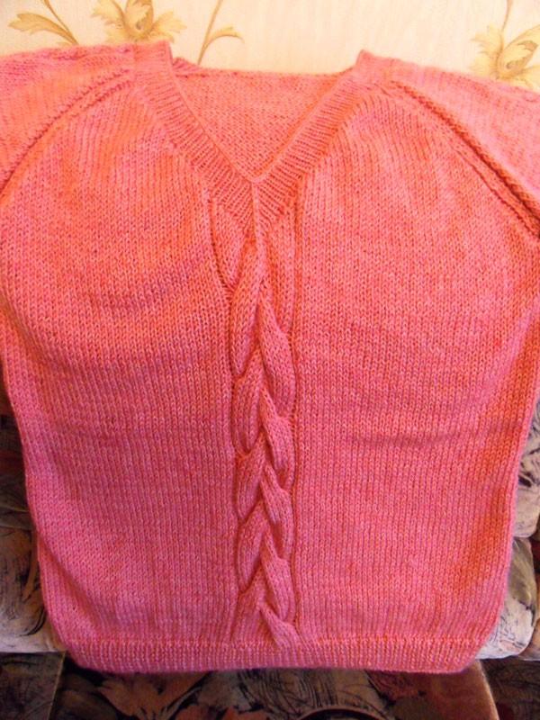 Вязаный женский свитер, свитер с V-образным вырезом, реглан, розовый свитер, вязаный пуловер