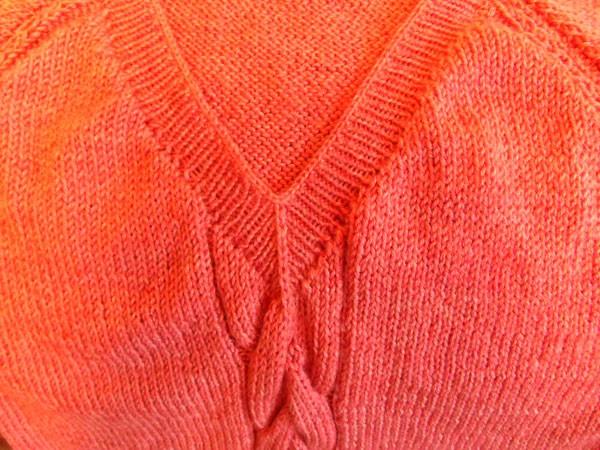 V-образная горловина вязание