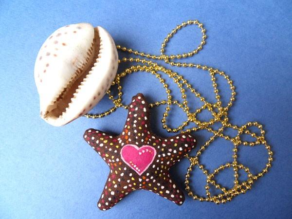 Кофейная морская звезда