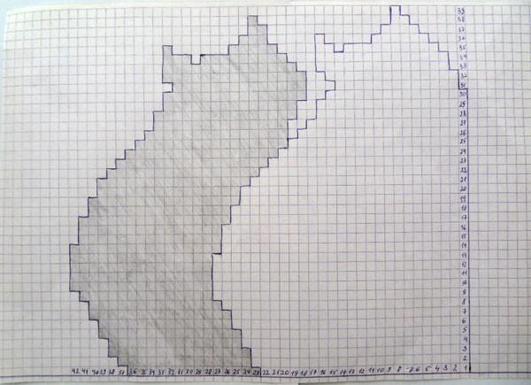 Вязаные коты - рисунок-схема