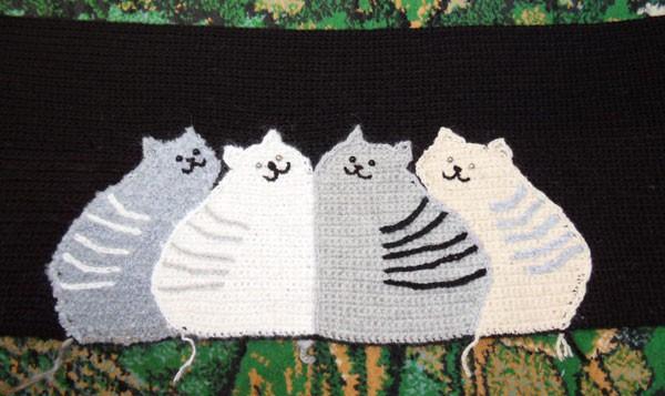 Вязаные коты узор