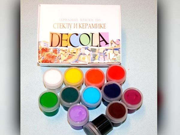 Краски по стеклу и керамике Декола