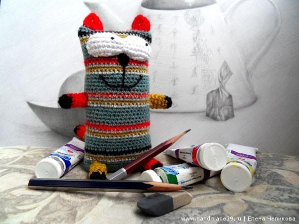 Вязаный кот Чехлов художник