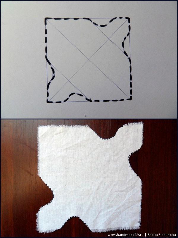Изготовление узелка Ёжика, мастер-класс