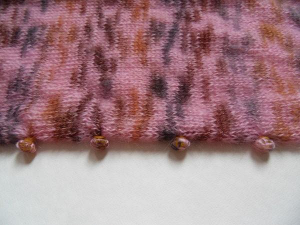 Шибори вязание - край изделия