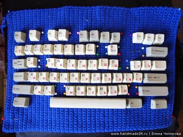 Вязаная сумка - раскладка клавиатуры