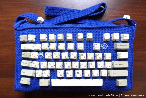 Вязаная сумка Клавиатура