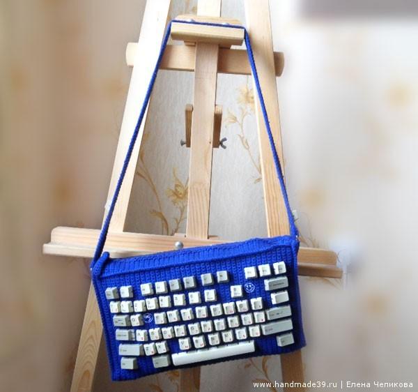 Вязанная крючком сумка Клавиатура