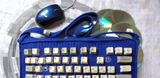Вязаная сумка клавиатура, айсумка, iсумка