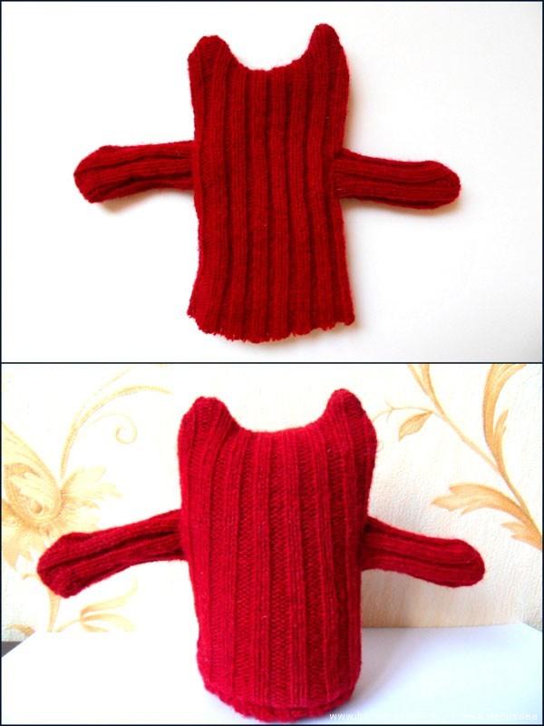 Как сшить кота из старого свитера