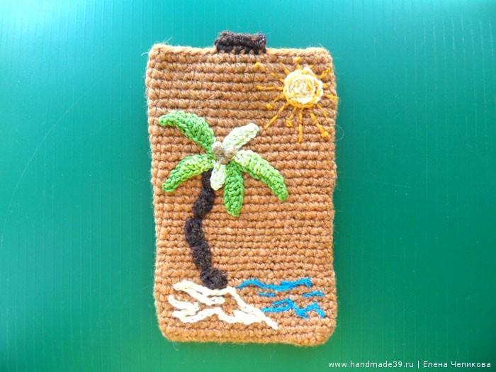 Вязание чехла на мобильный телефон крючком 179