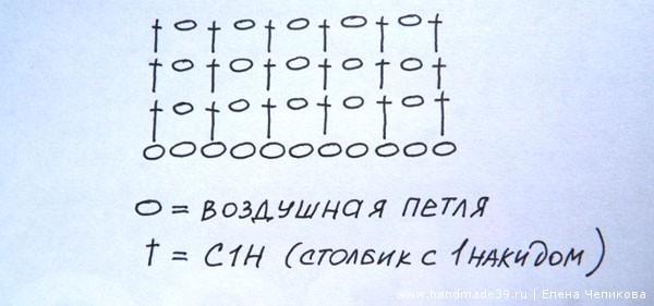 Филейная сетка крючком схема