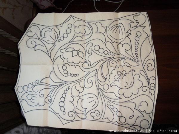 Ирландское кружево фриформ - рисунок-схема
