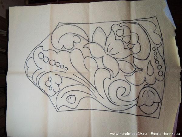Ирландское кружево фриформ - рисунок-схема рукав