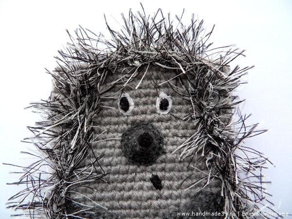 Вязаный чехол для телефона Ёжик в тумане - основа