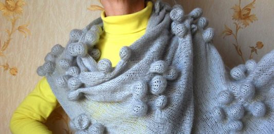 Вязаный шарф шибори