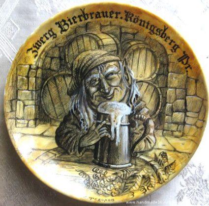 Тарелка Гном-пивовар