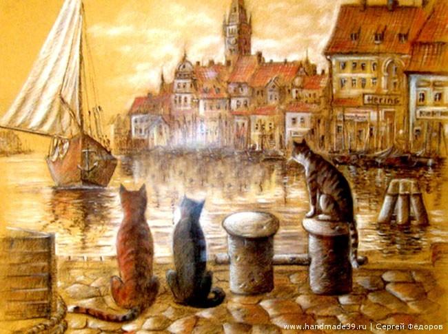 Расписные тарелки Кёнигсбергские коты Сергей Фёдоров