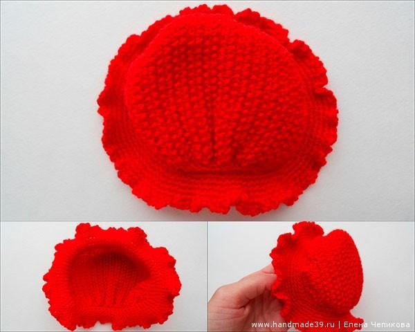 Вязаная красная шапочка