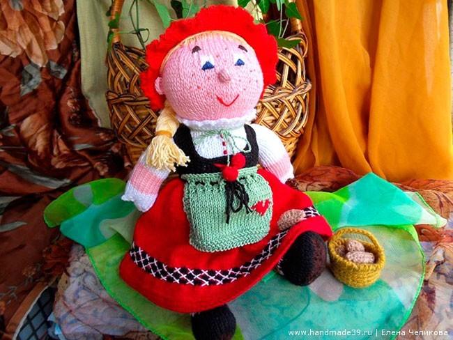 Вязаная игрушка Красная Шапочка