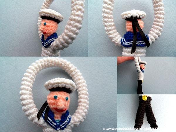 Вязаная игрушка Моряк