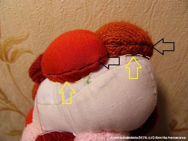 Как пришивать сердечки на игрушку