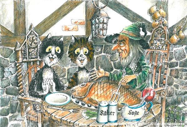 Гном Бальтазар и коты (или «Удивительный Гном»)