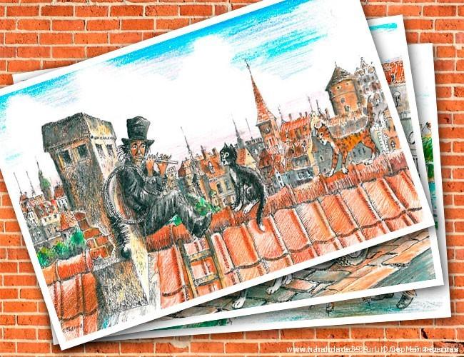 Серия открыток Кёнигсбергские коты