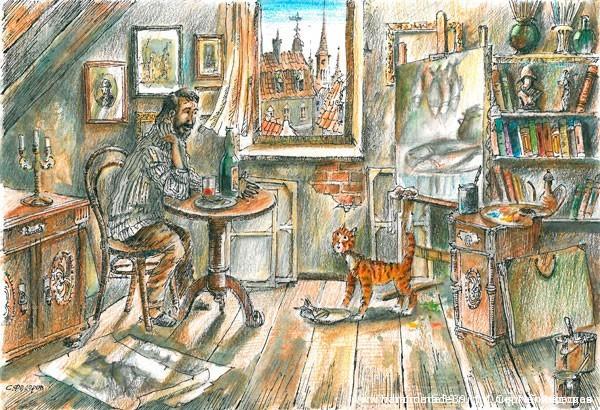 Райцкер и художник