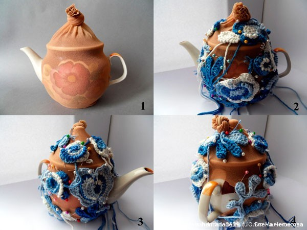 Вязаный чехол на чайник