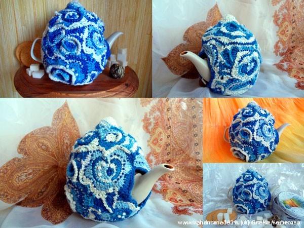 вязание чехол на чайник