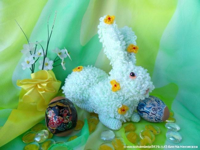 Вязаный Пасхальный <em>вязаный пасхальный кролик крючком</em> кролик