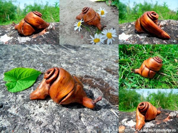 Скульптура из коряги «Улитка»