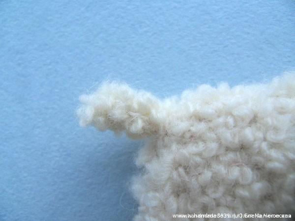 Вязаный хвостик овечки