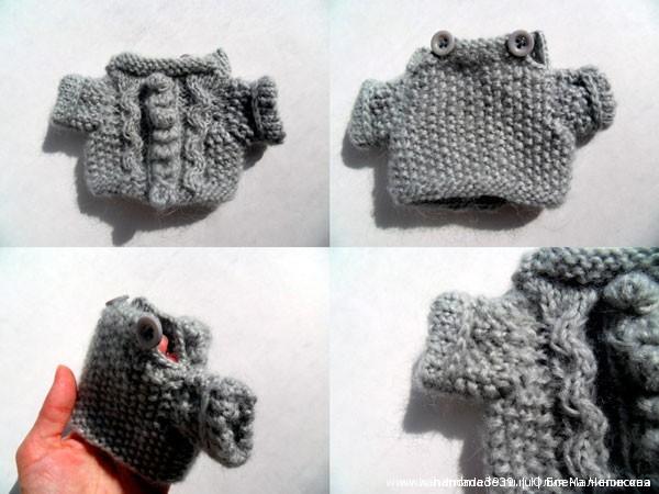 Вязаный свитер для медвежонка