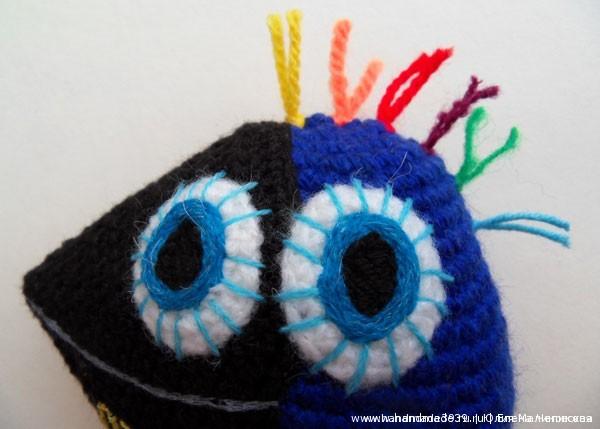 Вязаная птица - голова