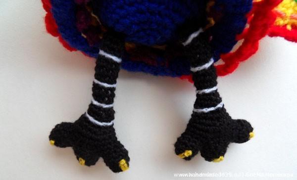 вязаная птица - лапы
