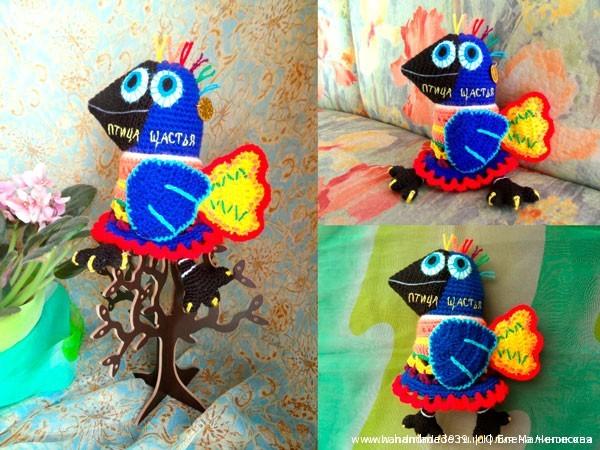 Вязаная птица щастья