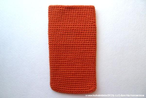 Вязаный крючком чехол на телефон - основа