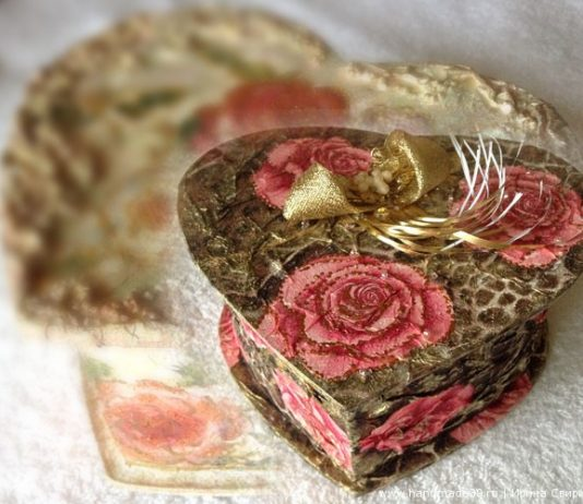 Пейп-арт: шкатулки в форме сердца