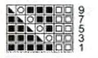 Схема узора Ажур из 9 рядов.