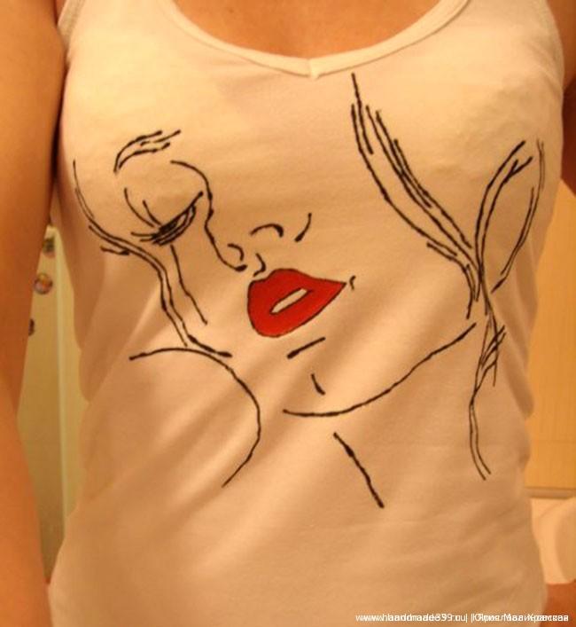 Рисунок на ткани Девушка